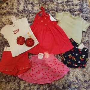 NWT All Gymboree 3-6 month Cherry themed lot